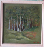 "Tablou - ""Peisaj de seara"" - Hlinka G. (Gustav) '92 - Dimensiuni 42x41 cm"