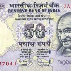 India 50 Rupii 2012 (cu noul simbol pentru Rupie) P-97 UNC !!!