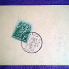 Carte postala circulata Stampila Kassa - Visszatert - 1938 Timbru de 25f
