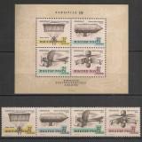 Ungaria.1967 Expozitia filatelica AEROFILA-Istoria zborului AB.35 - Timbre straine