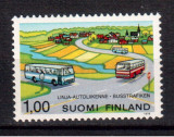 FINLANDA 1978, Transport - Autobuze, serie neuzata, MNH