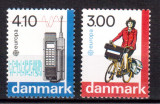 DANEMARCA 1988, Europa CEPT, serie neuzata, MNH