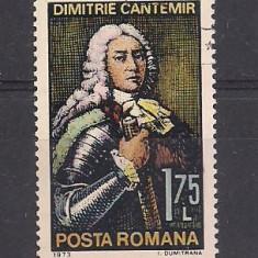 No(02)timbre-Romania 1973-L.P.828- Aniversari IV D.Cantemir-serie stampilata