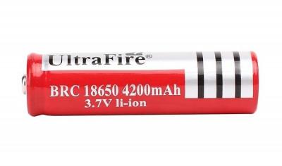 Acumulator UltraFire BRC 18650 3.7V 4200 mAh protectie PCB celule laptop, bormasina, lanterna laser, led - NOU foto