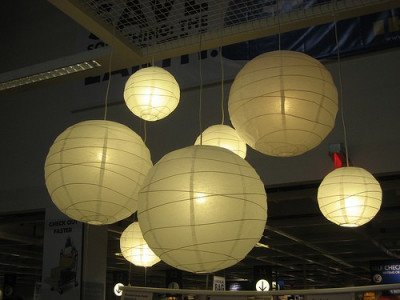 Ikea Produs Original Nou Regolit Abajur Pentru Lustra Alb Din