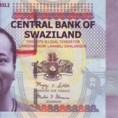 Swaziland 20 Emalangeni 06.09.2010 P-37 UNC !!!