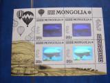 Mongolia 1993   aviatie  zepelin    holograma  MI  2482  klb.   MNH