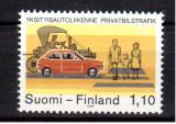 FINLANDA 1979, Autoturisme, serie neuzata, MNH