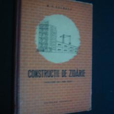 M. B. CELBAEV - CONSTRUCTII DE ZIDARIE - Carti Constructii
