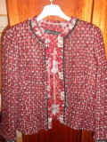 Sacou dama ZARA WOMAN - achizitie Finlanda -, Grena, Tweed, 42