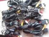 pachet de 10 bucati cablu AV,audio video SONY,pt ps2,playstation 2,pt slim,phat