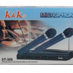 Set microfoane wireless AT-306 - Microfon