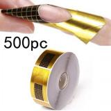 Sabloane constructie unghii false 500 buc pt set unghii false manichiura - Model unghii BeautyUkCosmetics