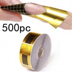 Sabloane constructie unghii false 500 buc pt set unghii false manichiura - Sablon constructie unghii BeautyUkCosmetics