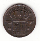 Belgia 50 centimes 1981, text francez -  KM#148.1 Type B, Europa