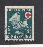 No(03)timbre-Romania 1957-L.P.438-SAPTAMANA CRUCII ROSII-serie stampilata, Stampilat