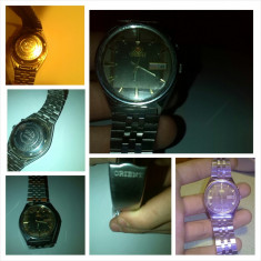 Ceas Orient Crystal ORIGINAL!! - Ceas barbatesc Orient, Lux - elegant, Mecanic-Automatic, Inox, Ziua si data