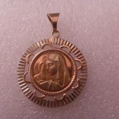 Medalion aur cu Maica Domnului - Pandantiv aur