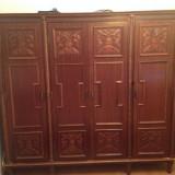 Dormitor Luvru (Sifonier, pat, 2 noptiere, vitrina, oglinda )stare buna