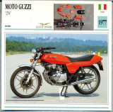 "429 Foto Motociclism - MOTO GUZZI ""254""  - ITALIA  -1977 -pe verso date tehnice in franceza -dim.138X138 mm -starea ce se vede"