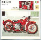 427 Foto Motociclism - MOTO GUZZI 500 CM3 - 2 VT  - ITALIA  -1927 -pe verso date tehnice in franceza -dim.138X138 mm -starea ce se vede