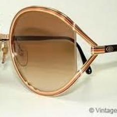 Ochelari de soare Vintage Christian Dior - Ochelari de soare Dior, Femei, Maro, Rotunzi, Metal, Polarizare