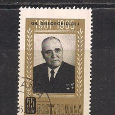 No(03)timbre-Romania 1966-L.P.623-Gh.Gheorghiu Dej-serie stampilata
