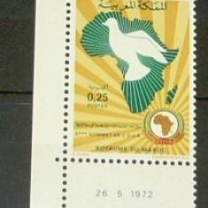 Timbru nestampilat - neuzat -  MAROC - UNIUNEA AFRICANA - serie completa - 1972  -  2+1 gratis toate produsele la pret fix - CHA333