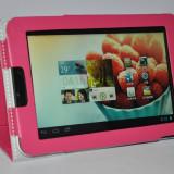 Husa tableta 7 inch, HUAWEI MEDIAPAD 7 VOGUE, tip mapa, roz, fuchsia