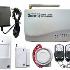 SISTEM DE ALARMA PENTRU CASA GSM 04 model 2014+ 1 Senzor de geam spart sau 1 Senzor Magnetic Usa/Geam GRATUIT !