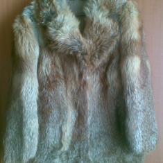 Haina din blana naturala de vulpe marimea 38, este noua! Haina este din Germania! - haina de blana