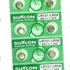 Baterie AG11, LR721, LR58, alkalina, blister de 10 bucati - 111217