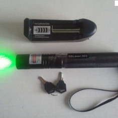 Laser pointer verde , 1000mw-ACUMULATOR-PROTECTIE COPII-PUNCT REGLABIL