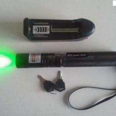 Laser pointer verde, 1000mw-ACUMULATOR-PROTECTIE COPII-PUNCT REGLABIL