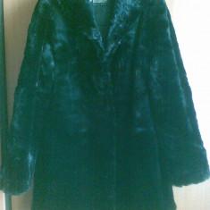 Palton din blana naturala Mutton Dore marimea 40, arata ca nou! Este nemtesc! - Palton dama, Culoare: Negru, Negru, Piele