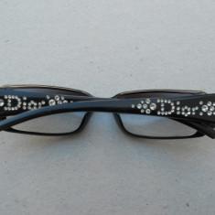 Ochelari de soare/ lentile Dior - model CD 3056/STRASS T62 SUPERBI!!! 289 euro! Originali! - Rama ochelari Dior, Femei, Negru, Dreptunghiulare, Plastic, Fashion