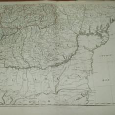 Harta color Transilvania, Basarabia, Valahia,  Marea Neagra Viena 1789 029