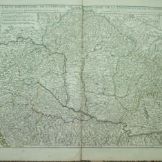 Harta color Ungaria, Transilvania, Croatia Guillaume de L'Isle Paris 1717 010
