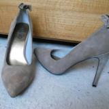 Pantofi stiletto Liu Jo piele velur / intoarsa 38 NOI ETICHETA pe talpa! - Pantof dama, Culoare: Cappuccino, Cappuccino, Cu toc