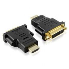 Adaptor DVI mama la HDMI tata conectori auriti - Adaptor interfata PC