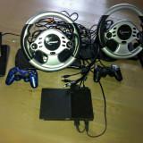 Play Station 2 modat+2 joystick-uri+2 volane+ 8 jocuri - PlayStation 2 Sony