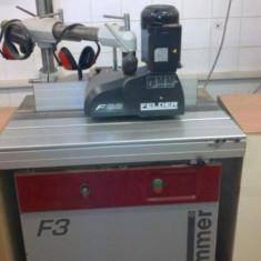 Masina frezat cu ax inclinabil+dispozitiv de avans mecanic-HUMMER F3 - Masina de frezat