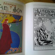 Bevis Hillier - Posters album istorie vizuala poster posterul arta posterului design grafica advertising propaganda Art Nouveau Deco 210 ilustratii - Album Arta
