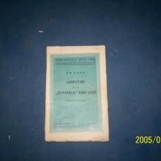 AMINTIRI DE LA JUNIMEA DIN IASI GH PANU /1935 - Carte veche