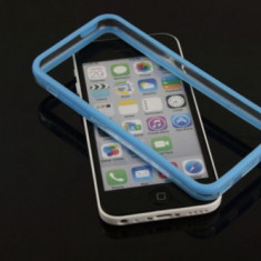 Bumper albastru transparent Iphone 5C 5 C + folie protectie ecran + expediere gratuita Posta - sell by Phonica - Bumper Telefon