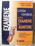 """""""LITERATURA ROMANA PENTRU EXAMENE DE ADMITERE"""", Georgeta Costache / Adrian Costache, 1999. 58 de teste + teste grila cu rezolvari.Absolut noua"""
