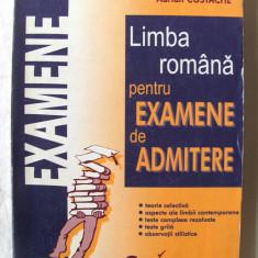 """""""LITERATURA ROMANA PENTRU EXAMENE DE ADMITERE"""", Georgeta Costache / Adrian Costache, 1999. 58 de teste + teste grila cu rezolvari.Absolut noua, Alta editura"""