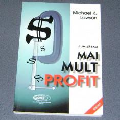 CUM SA FACI MAI MULT PROFIT, de Michael Lawson - Carte design grafic