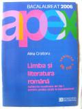 """BACALAUREAT 2006 - LIMBA SI LITERATURA ROMANA - Subiecte rezolvate de tip I proba orala"", Alina Croitoru, 2005. 48 subiecte. Absolut noua, Humanitas"