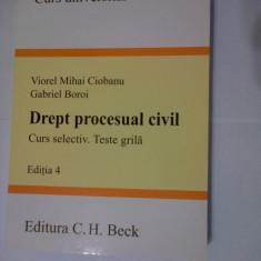 DREPT PROCESUAL CIVIL . CURS SELECTIV .TESTE GRILA EDITIA 4-VIOREL MIHAI CIOBANU/GABRIEL BOROI(2009) ED C.H.BECK - Carte Drept civil